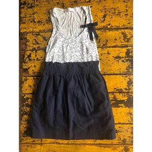 JCrew navy blue mini skirt with ruched waist